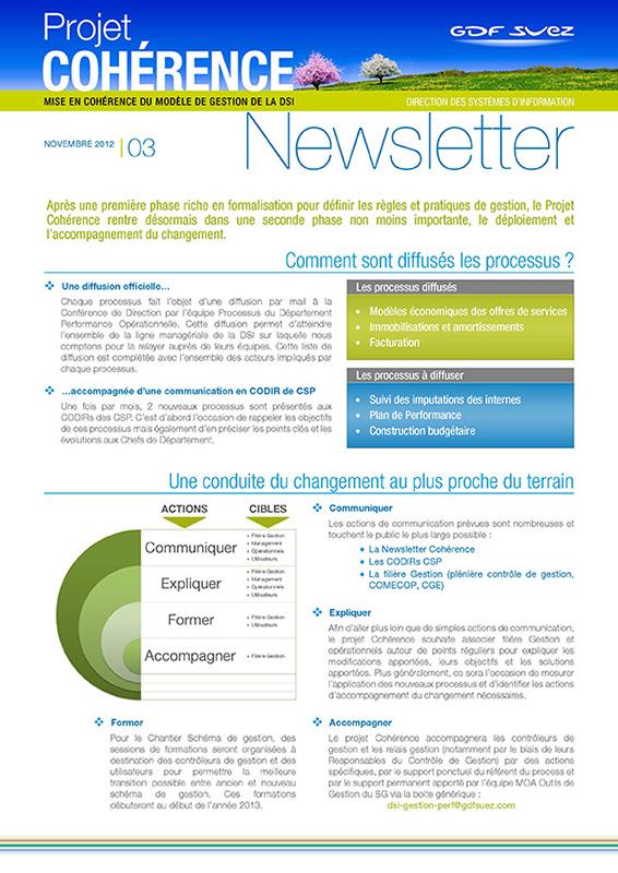 Berühmt GDF SUEZ : Newsletters internes - Agence Artatem propagateur d'images FW09