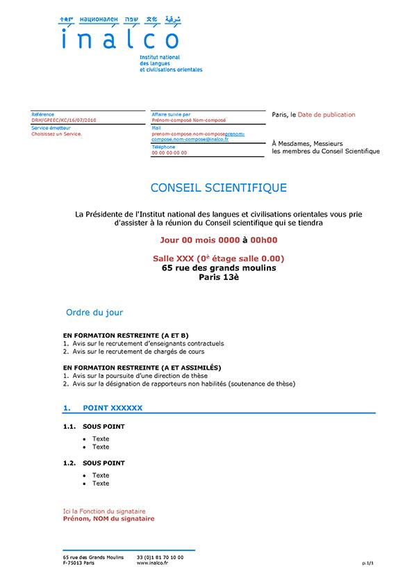 inalco   61 mod u00e8les administratifs sous ms word